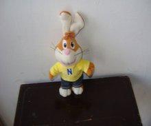 15cm mini soft plush rabbit keychain with dress