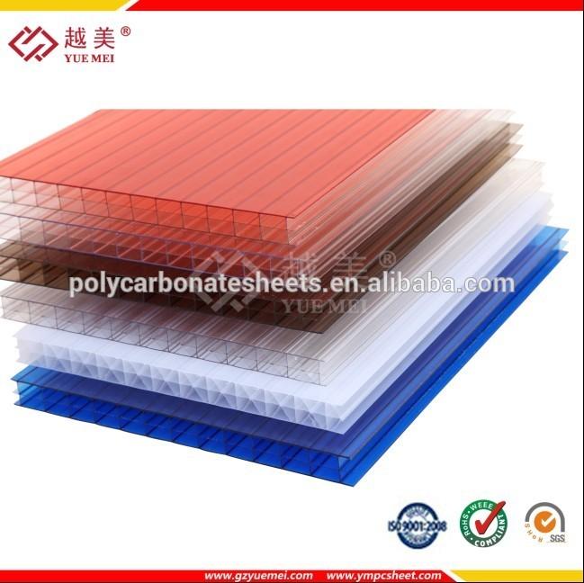 Plástico transparente telhado