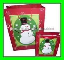 printed art paper Fashional paper christmas gift packaging bag