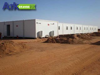 beautiful container house dormitory in Niger