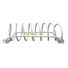 White Security and Protection Bike Rack