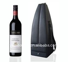 Portable single bottle wine box with wine accessories