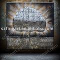 حار بيع شجرة مجردة اللوحات مع رقائق ذهبية ab-740-24