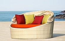 Rattan beach bed HLWL007