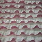 ruffle fabric-1.5cm polyester yarn dyed fabric