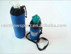 Neoprene insulated sports water bottle carrier