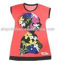 Moda Lady impresso t-shirt de manga curta, Mulher africano roupas