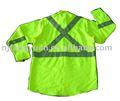 a segurança reflexiva manga comprida camisa de trabalho