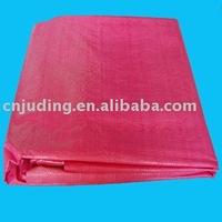 folded red coated pe tarpaulin