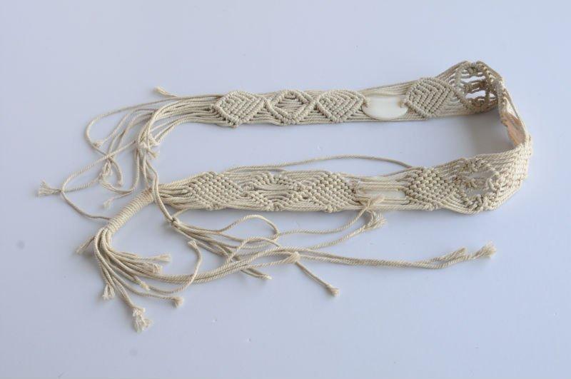 Cinturón hecho a mano, tejido del cinturón
