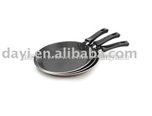 aluminium fry pan with crossline interior DY-16022-16026