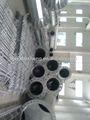 distribución eléctrica y la línea de transmisión de acero del poste