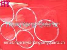 defferent size clear quartz glass tube and multi-colored quartz glass tube