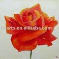 Büyük çiçek yağlıboya, kırmızı hızla artmıştır toptan el yapımı yağlıboya, soyut duvar sanatı deco resmi