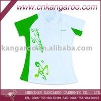 Women's cotton pique polo shirt with silk screen printing