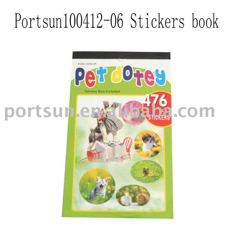 kid's cartoon sticker book fro chidlren with 476 pcs sticker