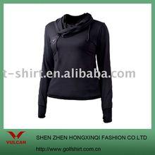2012 ladies fashion shirt,black shirt