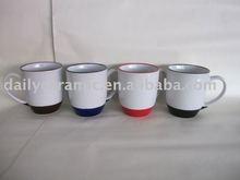 16oz foot and rim colored USA popular stoneware mug