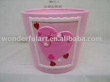 ceramic valentines heart mini flower pot