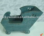 handmade eco painted antique decorative wooden sleigh