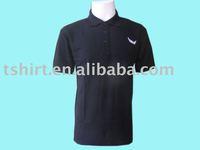 Cheap plain black pique t shirt polo