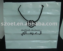 clear plastic promotional shopping bags with embossed/printing logo