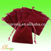 Eco-friendly Velvet drawstring jewelry pouch bag For Gifts
