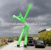 Inflatable green windy man/Air dancer