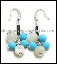 Fashion fashion jewelry green acrylic charm earrings hook earring silver earring