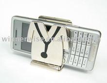 Desktop Doctor Coat Cellphone & Memo Shiny Nickel Plated Zinc Alloy Metal Card Holder