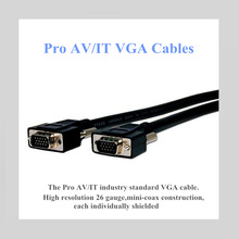 Pro AV/IT VGA HD 15 Pin Plug to Plug Cables 25 ft