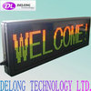 CE and RoHS 32X128pixel P7.62mm red green indoor dot matrix led sign display with scrolling moving message