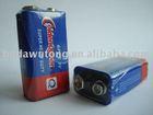 PVC 9V carbon zinc battery