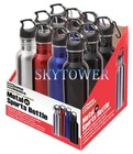 Metal sports bottle with clip