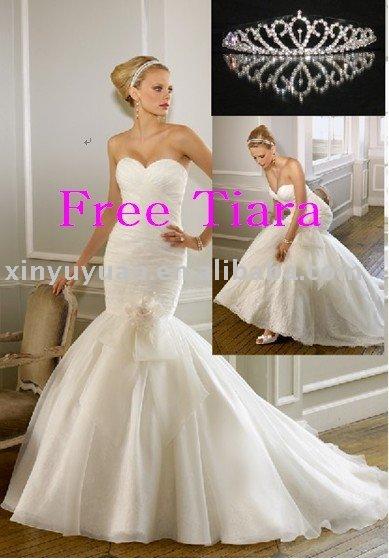 Strapless Sweetheart Neck Floor Lenght Mermaid Wedding Dresses MLW363
