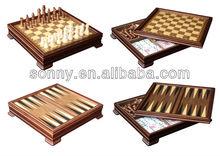 5 en 1 de la alta calidad de madera juego de mesa