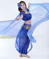 Azul de danza del vientreisis ala, para los trajes de danza del vientre, danza del vientre ropa