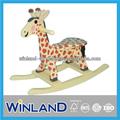 أطفال خشبية تصميم الزرافة الحصان الهزاز/ الروك