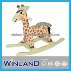 Kids Wooden Giraffe Design Rocking Horse/ Rocker
