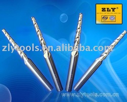 Long flute taper ball nose end mill for steel
