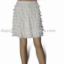 Stylish design fashion unique lovely fashion lady pleated skirt for party
