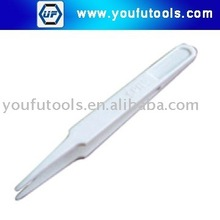 NO.702B White Anti-static Plastic Conductive Tweezer