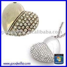 heart shape jewelry usb flash memory 3.0