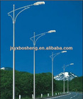 Single-arm steel street lighting pole