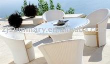 Leisure rattan wicker dining sofa set outdoor garden furniture