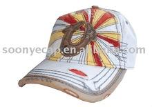 Pierced Front Baseball Cap-White-Unisex
