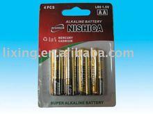 super power 1.5V AA Nashica blister card Alkaline Batteries