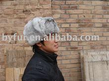 BY-113 rabbit fur hat rabbit hat hare hat
