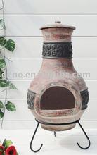 Garden antique clay chiminea