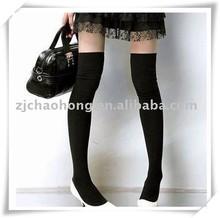 Lady cotton black stocking